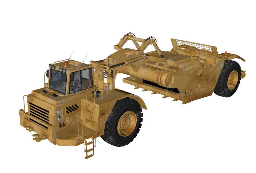 工程车农业收割机模型