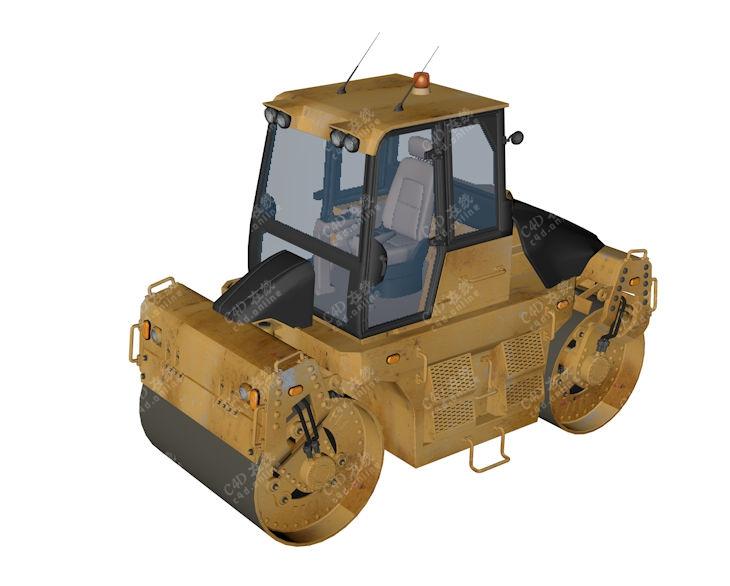 工程车压路机施工车模型