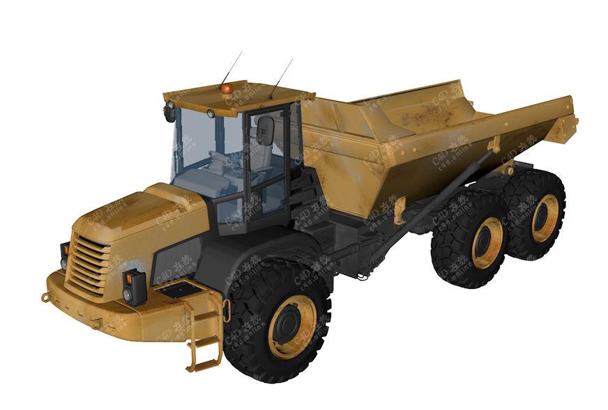 工程运输车渣土车货车模型