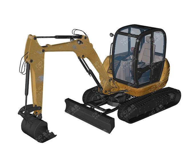精品工程车挖机挖掘机模型