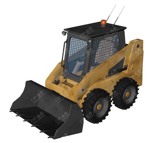 精品工程车挖机推土机模型