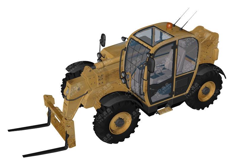 高质量叉车模型