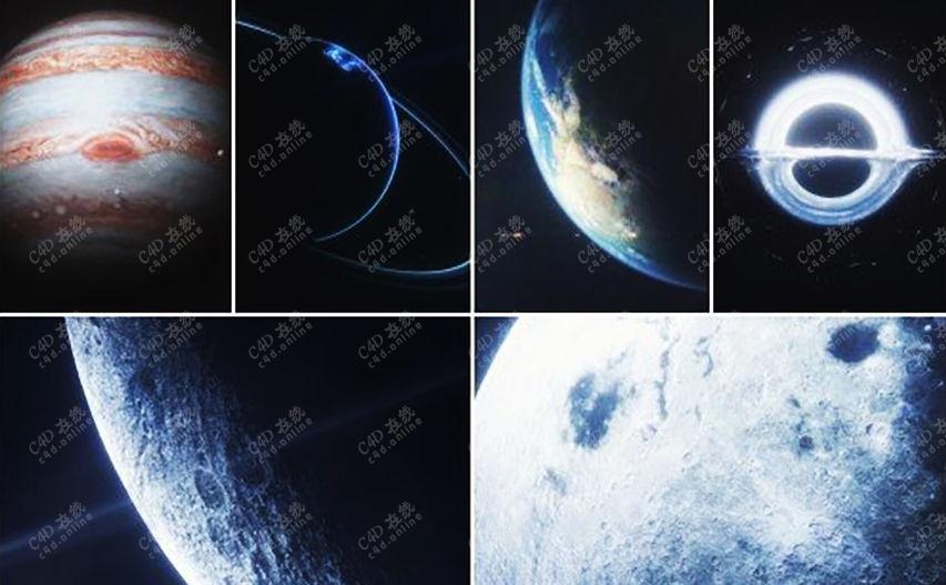 九大行星地球火星金星模型合集