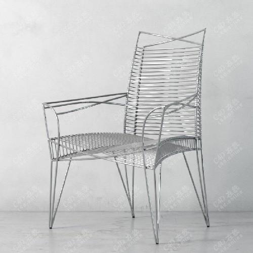 艺术现代铁椅子模型