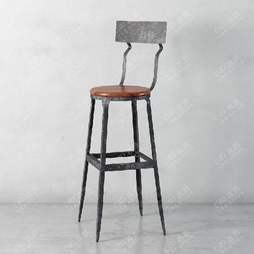 艺术椅子靠背椅模型