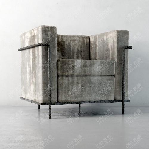 单人沙发椅子叙利亚风格沙发模型