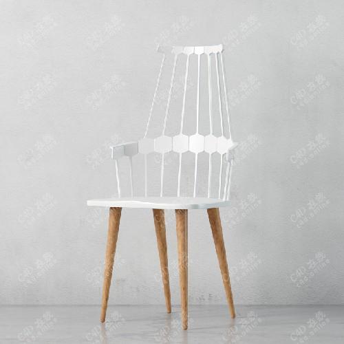 简约单人椅子模型