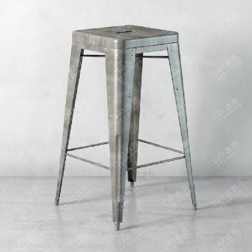 不锈钢凳子椅子模型