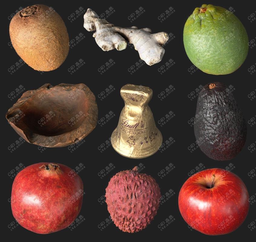 高质量水果蔬菜食品模型