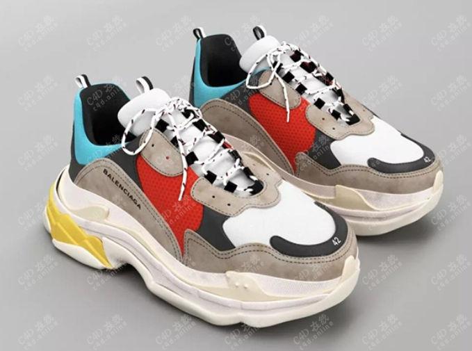 老爹鞋休闲鞋巴黎世家鞋子模型