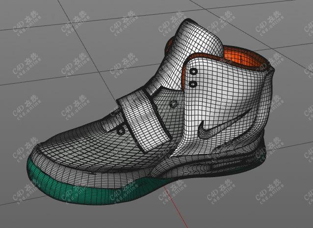 耐克篮球鞋Nike高帮运动鞋模型