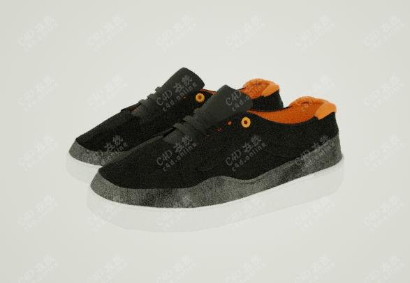 平板鞋帆布鞋子模型
