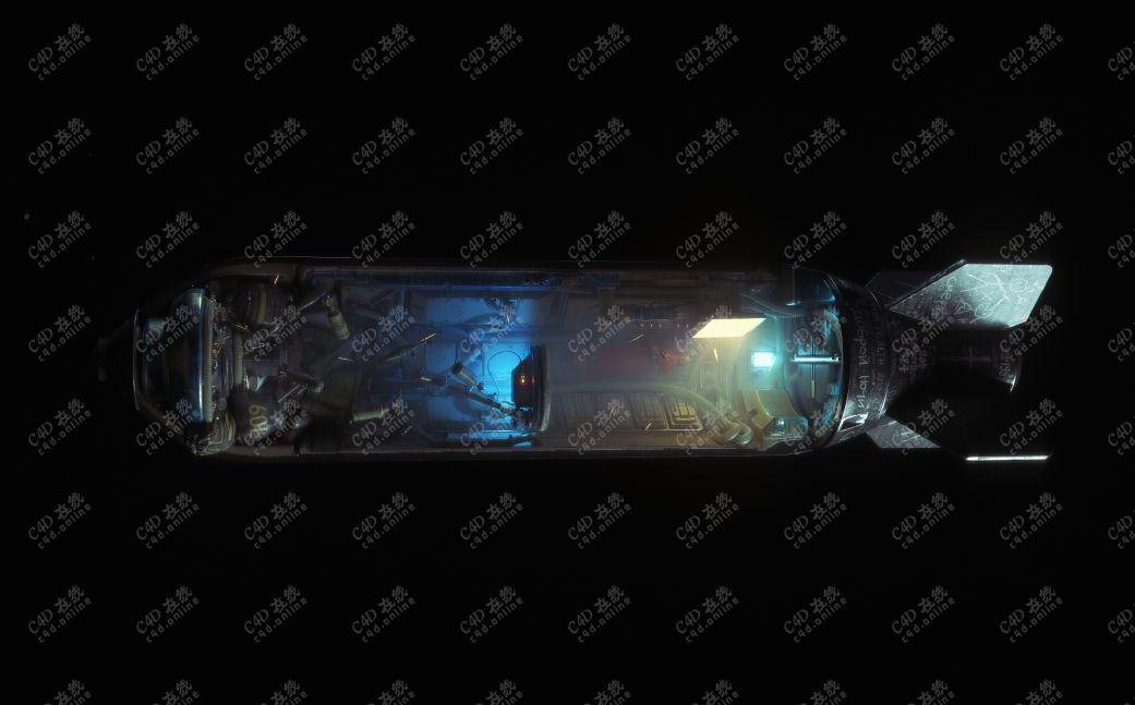 高精度科幻导弹模型