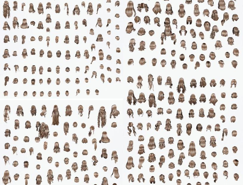 人物头发模型合集