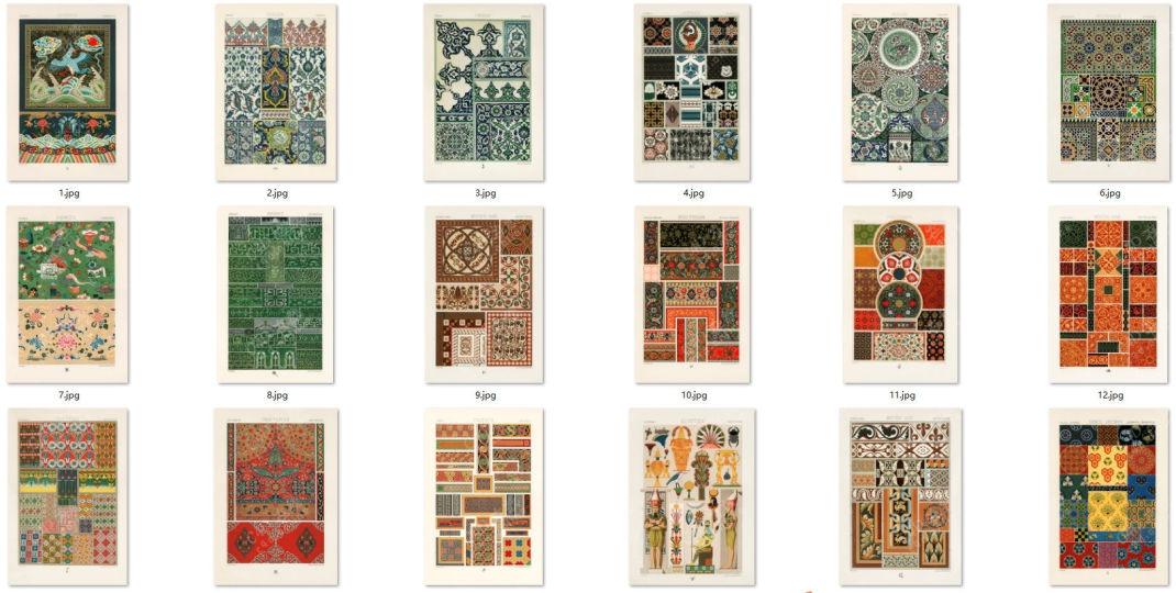 26张印刷品图案花纹贴图