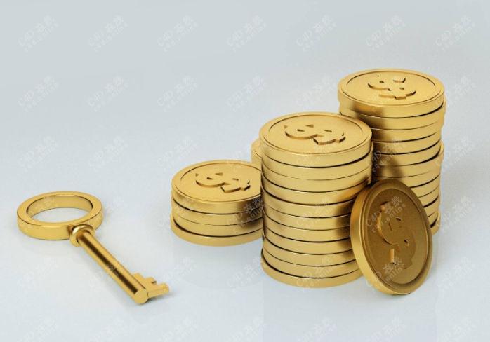 金币钥匙模型