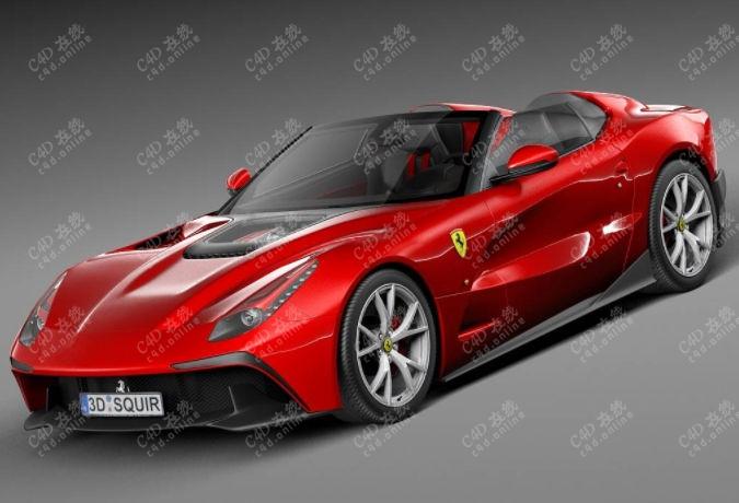 法拉利超跑赛车汽车模型