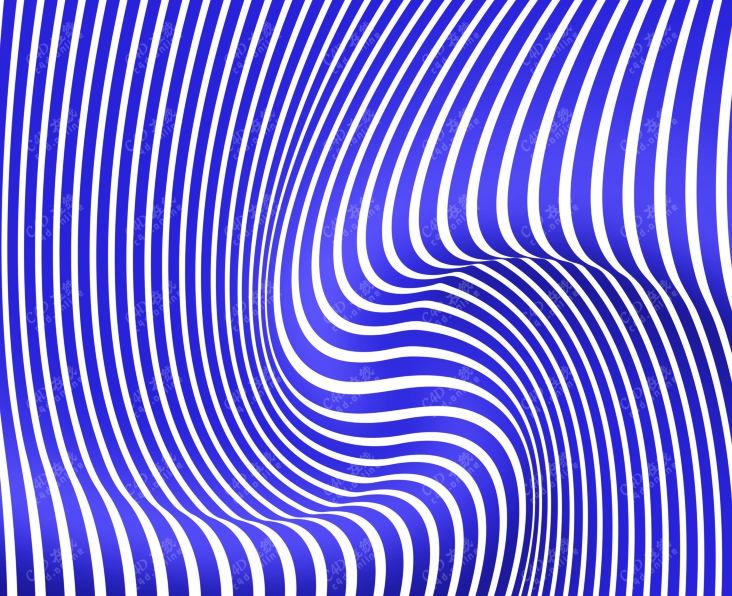 抽象波浪条纹图案素材