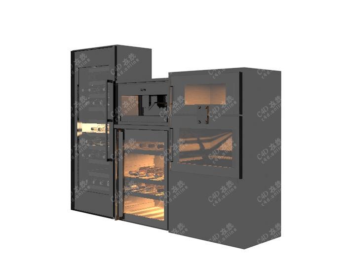 烤箱橱柜模型