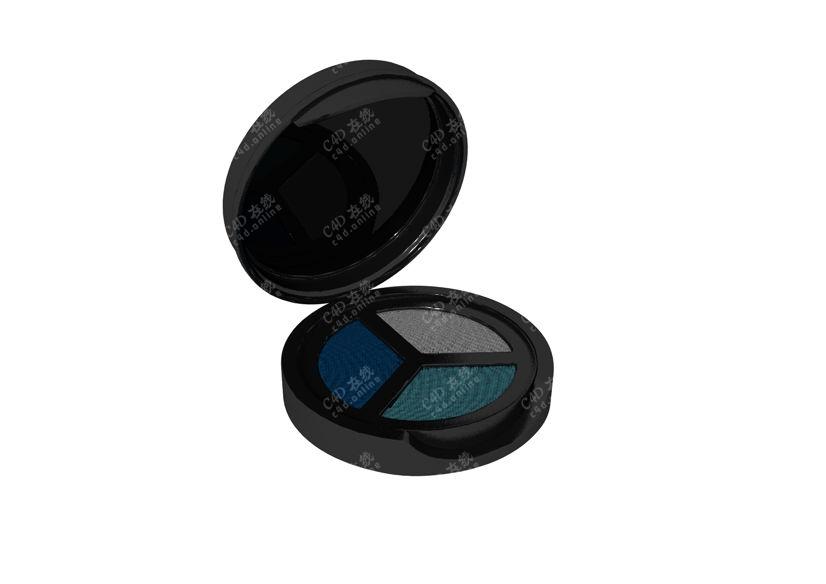 化妆品眼影盒模型