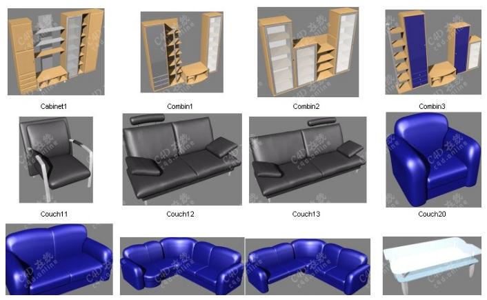 低面现代家具模型合集