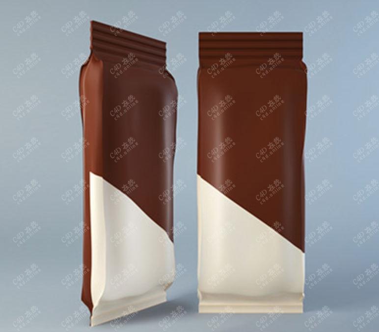 食品包装袋模型