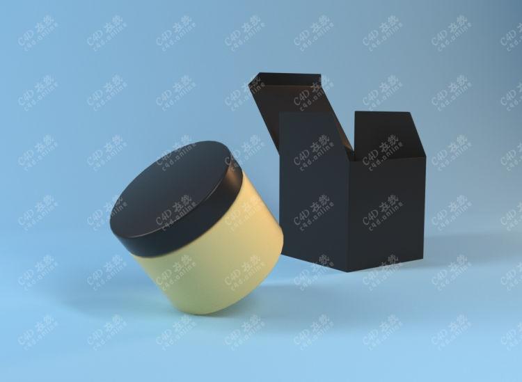 药罐塑料瓶化妆品包装模型