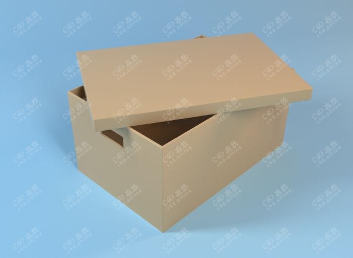 包装盒纸盒手提盒模型