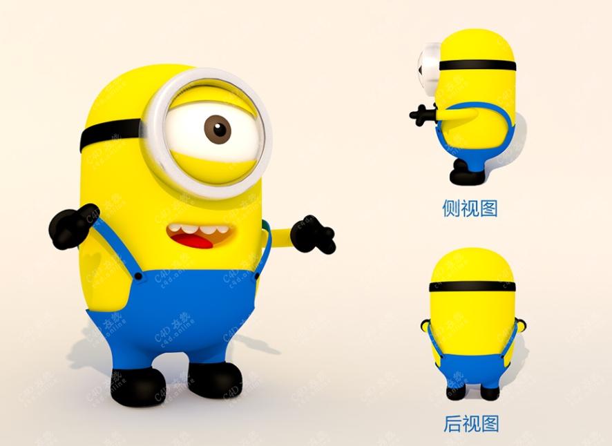 小黄人游戏角色模型