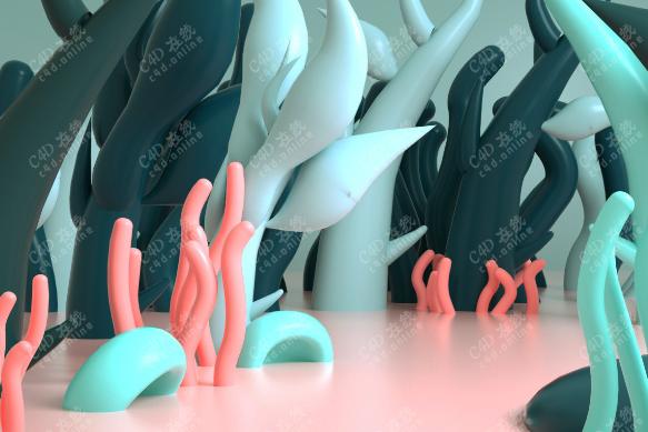 水草海底场景模型