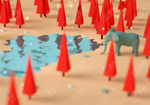 红树林场景模型